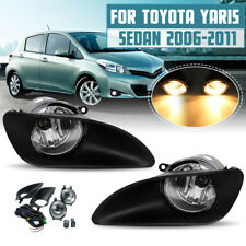 For Toyota Yaris Sedan 4D 2007-11 Front Clear Fog Lights +Wiring Harnes H11 Bulb