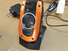 Verizon Casio G'zOne Boulder Orange Cellular Phone with Charger, Box & Books