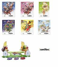 DIORAMA & 6 Amiibo figure Set Monster Hunter Stories Barioth Rathia Cheval lot