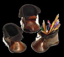 1A SATTLERARBEIT Stiftehalter NEU Federetui LEDER Schreibtisch Stiftebox Schuh #