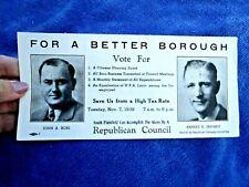 1939 VOTE REPUBLICAN CAMPAIGN COMMITTEE - Vintage Blotter SOUTH PLAINFIELD, NJ