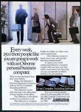 1982 Osborne 1 portable business computer photo vintage print ad