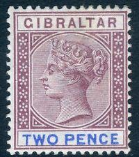 Gibraltar - 1898 2d Marrón-Púrpura & Azul ultramar SG 41 V17597 ligeramente montados como nuevo