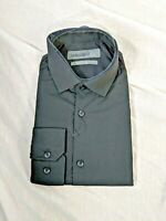 Mens Primark Black Formal Shirt Long Sleeve Regular Fit Business Work Collar