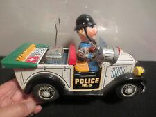 "T.N. NOMURA BATTERY OPERATED "" POLICE PATROL CAR "" WITH ORIGINAL BOX  JAPAN"