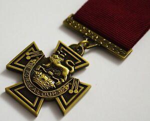 Superb Full Size Replica Victoria Cross Medal & Ribbon. Highest Military Honour