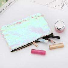 Reversible Sequins Mermaid Glitter Evening Clutch Handbag Bag Wallet Purse WT