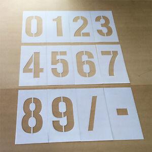 0 TO 9 - Number Stencil Set / Car Park Stencil / Spray Paint Stencil -100mm High