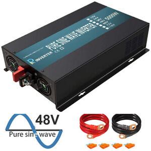 WZRELB Power Inverter 5000 Watt Pure Sine Wave 48V to 120V Car Truck Motorhome