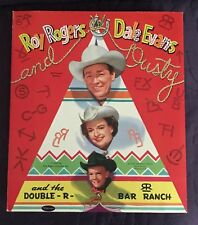 Roy Roger Dale Evans Rusty Cut-Out Dolls Uncut Unpunched 1957 Whitman