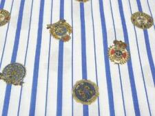 Nautical blue Striped Fabric Yacht Clubs  2 + yds excellent