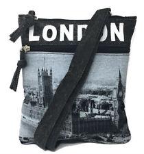 Robin Ruth London Black and Grey Small Passport Bag