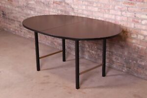 Paul McCobb for Calvin Black Lacquered Mahogany Dining Table