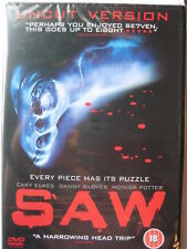 Saw Uncut Version (DVD, 2005) HORROR NEW Sealed PAL Region 2