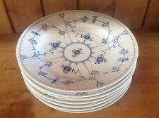 "royal copenhagen blue fluted plain 10"" Deep dinner plates"