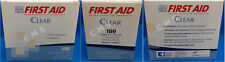 """American White Cross First Aid Clear Patch Adhesive Bandages 1-1/2x1-1/2"""" 100/bx"""
