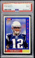 Tom Brady 2003 Fleer #170 New England Patriots Mint PSA 9 POP 5