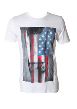 """DC Men's S/S T-Shirt """"Patriot Acts"""" Small - WHT - NWT"""