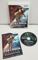 Metroid Prime 3: Corruption (Nintendo Wii, 2007) - CIB Complete TESTED FREE SHIP