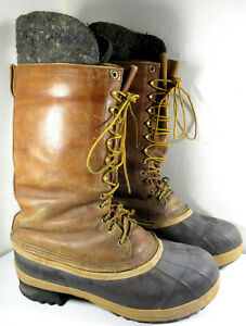 White's Boots Leather Rubber Insulated Tall Elk Deer Winter Hunting Size 13 Mens