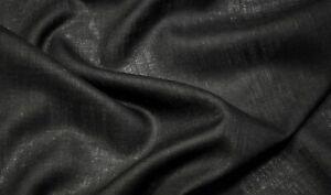 "Black Burlap 100% Jute Fabric 56""W 11 oz Premium Upholstery By The Yard"