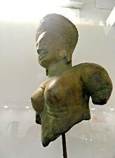 Bronze Statuette der Hindu Muttergöttin PARVATI, ca. 13.-15.Jhr. - gesockelt
