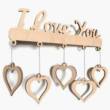 Wooden Love You Plain Word Shapes Heart Blank Decoration Craft Shape Plaque X34