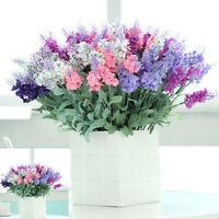 10pc/Bunch Lavender Fake Flowers Silk Floral Bouquet Wedding Home Party Decor