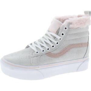 Vans Womens Gray Suede Skateboarding Shoes Athletic 6 Medium (B,M) BHFO 2734