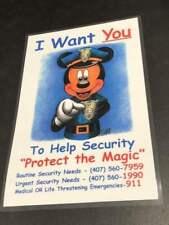 Security Mickey - Backstage Cast Member Sign Prop - Disneyland Walt Disney World