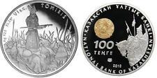 2010 Kazakhstan Large Silver Proof 100 Tenge Great Commanders Queen Tomiris
