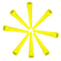 25pcs 70mm Plastic Wedge Golf Tees Golfer Practice Training - Yellow