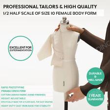 Miniature 1/2 Scale Dress Form Dressmaker Tailor Fashion Design Mannequin Dummy