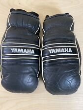 Vintage Yamaha Snowmobile Mittens/gloves Mens Xl Shell 100% Cowhide