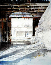 Michael Schreiber Cotton depot Colour lithography signed