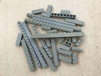 Lego:Lot de 30 briques Grises en vrac   Dims:1x4 1x16...   Mix of OldGray brick