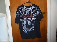 Aerosmith : 2009 World Tour Black T Shirt Rare