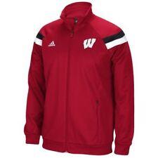 Men's Adidas Wisconsin Badgers Sideline Anthem Warm Up Full-Zip Jacket (Red)