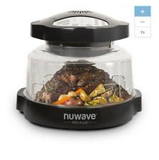 NEW Black NuWave 18 Qt Quart Electric Programmable Roaster Oven Slow Cooker Lid