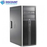 HP Tower Computer PC Windows 10 8GB 16GB 500G 1TB 2TB SSD WiFi Dual LCD Ready