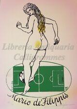 EROTICA - Ex-Libris Originale Firmato FERREIRA Soccer CALCIO Nudo De Filippis