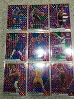 2019 Mosaic Basketball 15 Card Reactive Blue Lot Tatum, Bird, Malone, Lowery