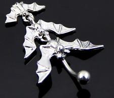Body Jewelry Batman Dangle Button Barbell Belly Navel Ring Bar Piercing