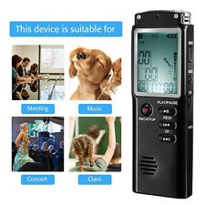 1x Voice Activated Mini 32Gb Large Lcd Digital Sound Audio Recorder Dictaphone