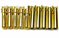 C0405x5 RC Connector 4mm Gold Plated Male and Female Bullet Banana x 5 Set