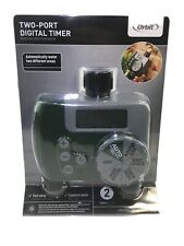 Orbit 2-Port Digital Watering Lawn and Garden Timer 56503 With Crack On Plastic