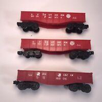 2 Lionel 9032 O Scale SP Southern Pacific Open Gondola Train Cars & 1 Rail Blzr