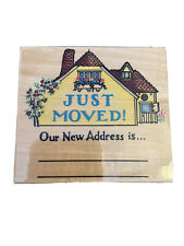 Vtg ~ Embossing Arts Co. 1996 ~ Just Moved Cottage #1286-J ~ Rubber Stamp New!