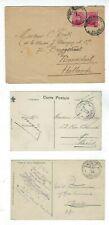 Three 1915-1920 Belgium Postes Military WWI Censored Items