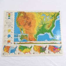 """Nystrom Laminated Political Map of United States 2Hg1 Double Sided 17""""x22"""""""